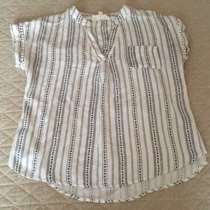 Tops - Blue and white top size small